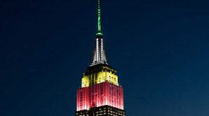 Empire State building honors Arnold Palmer.