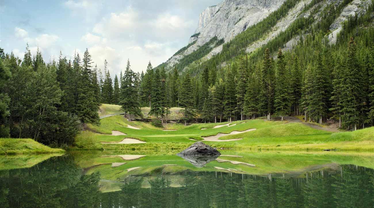 Fairmont Banff Springs features 27 holes of idyllic golf.