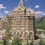The main hotel building at Fairmont Banff Springs Resort.
