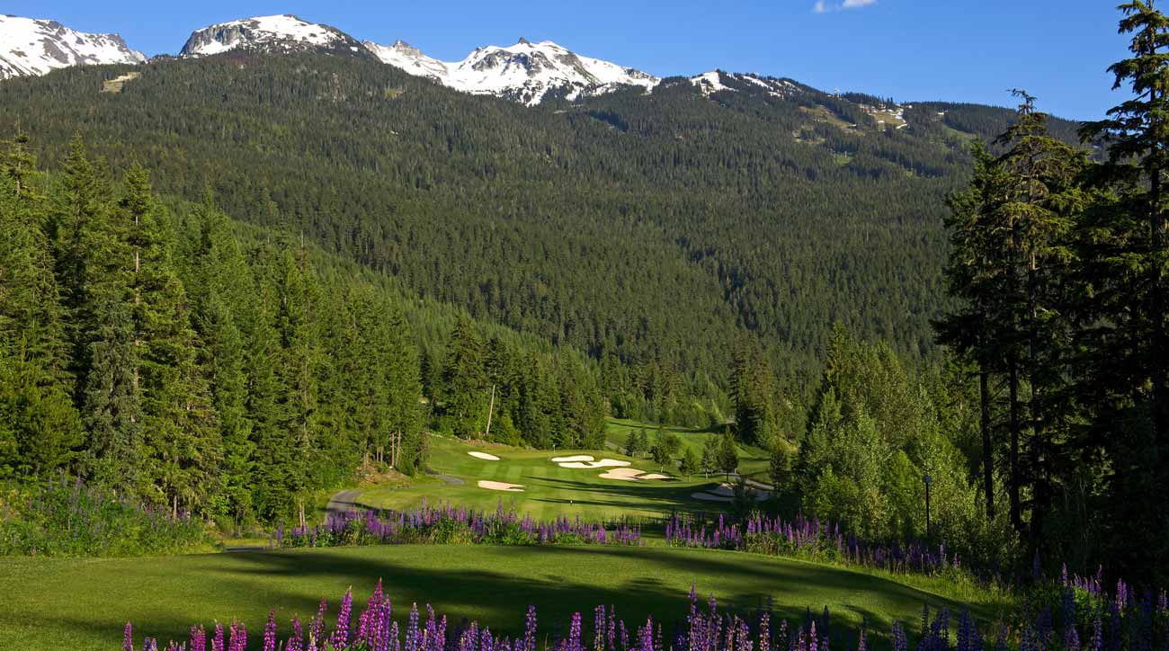 You can't beat the views on the golf course at Fairmont Chateau Whistler.