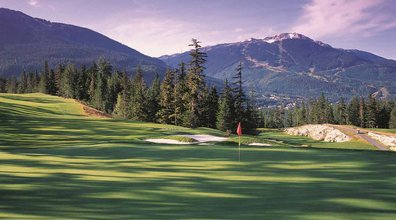 Whistler mountain is almost always in view at Fairmont Chateau Whistler.