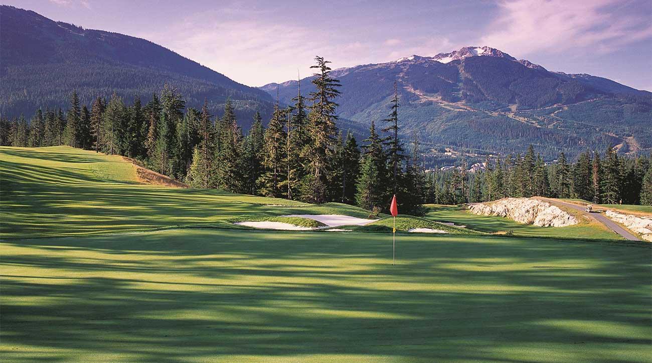 Fairmont Chateau Whistler Golf Club in Whistler, British Columbia, is an 18-hole Robert Trent Jones, Jr. design.