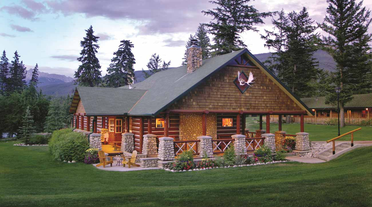 The Gardener's Cottage, one of the signature luxury cabins at Fairmont Japser Park Lodge.
