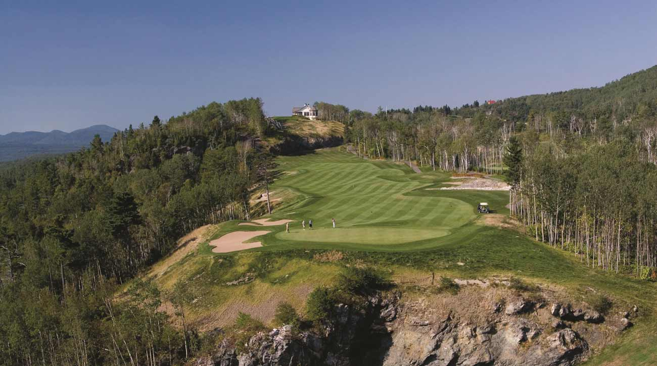 A view of the golf course — and scenic countryside — at Fairmont Le Manoir Richelieu.