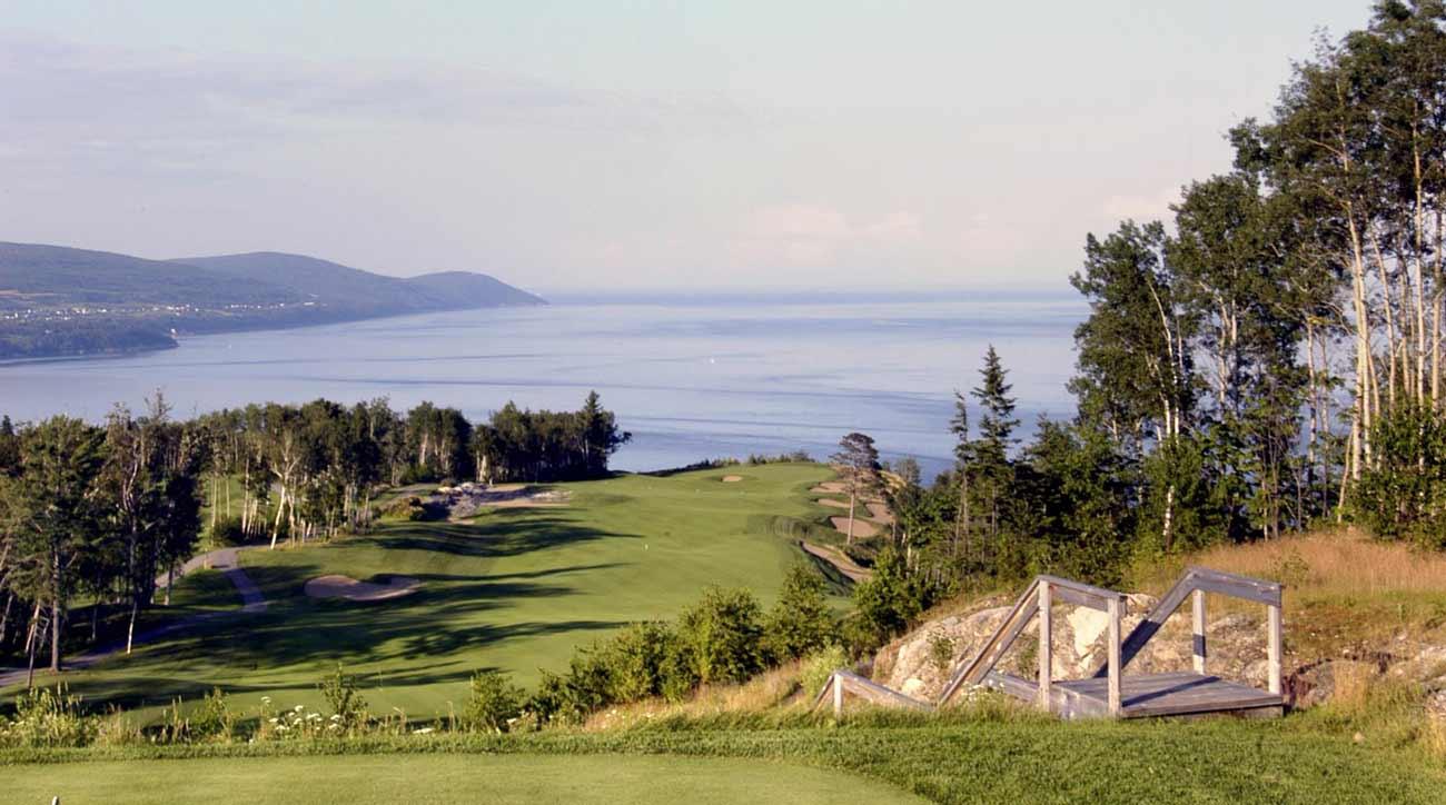 A view of the golf course at Fairmont Le Manoir Richelieu.