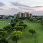 An aerial view of Four Seasons Resort Las Colinas.