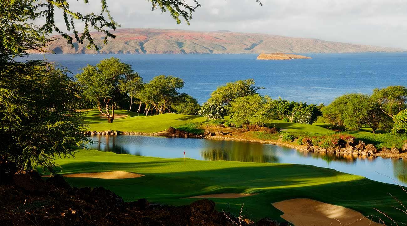 A shot of Wailea Golf Club's Emerald course.