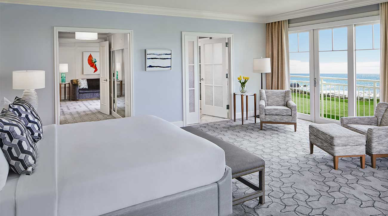 A luxury suite at the Ritz-Carlton in Half Moon Bay.