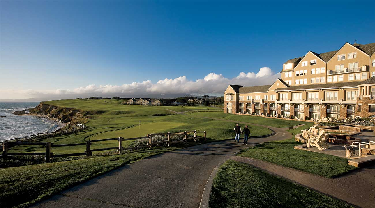 A shot of the golf course at the Ritz-Carlton in Half Moon Bay.