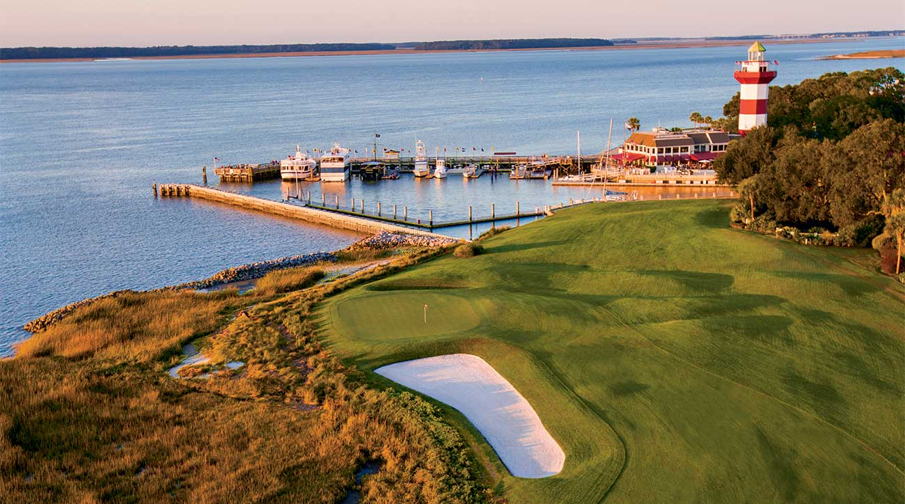 The iconic 18th hole at Harbour Town at Sea Pines.