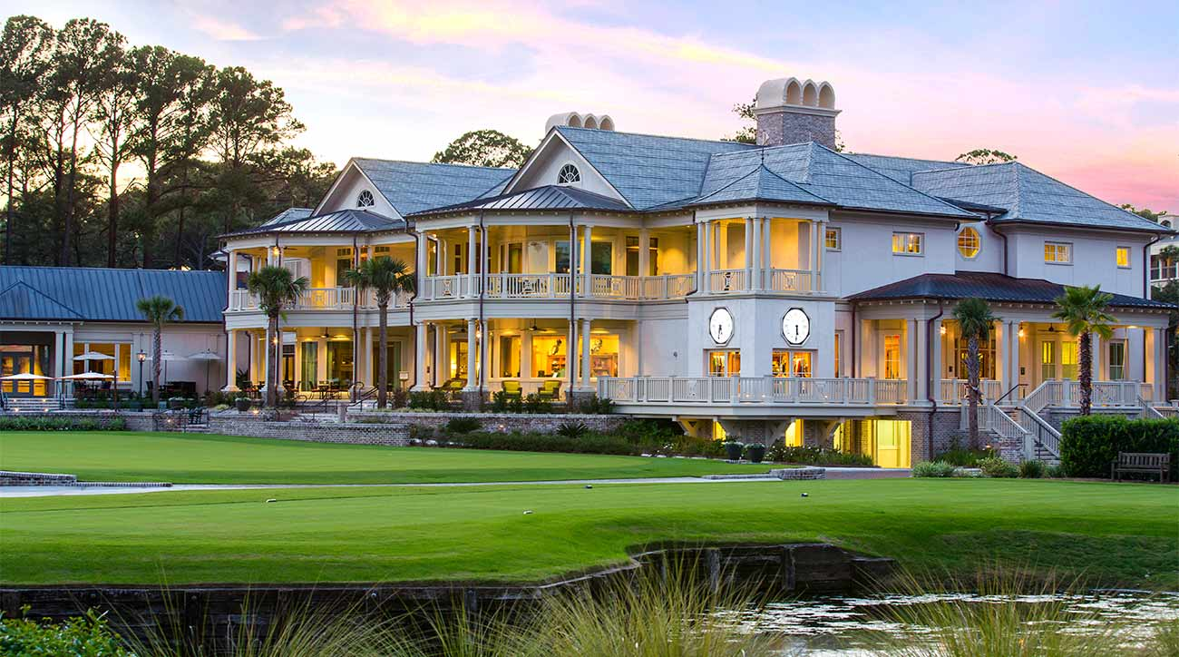 The Harbour Town clubhouse at Sea Pines Resort.