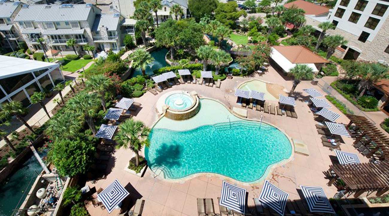 The pools at Horseshoe Bay mean fun for the entire family.