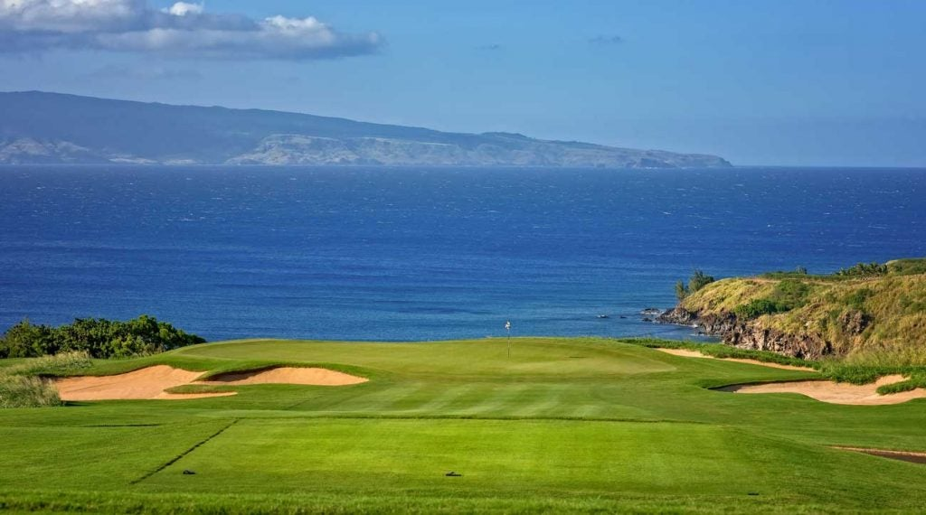 Kapalua's Plantation course offers spectacular views.