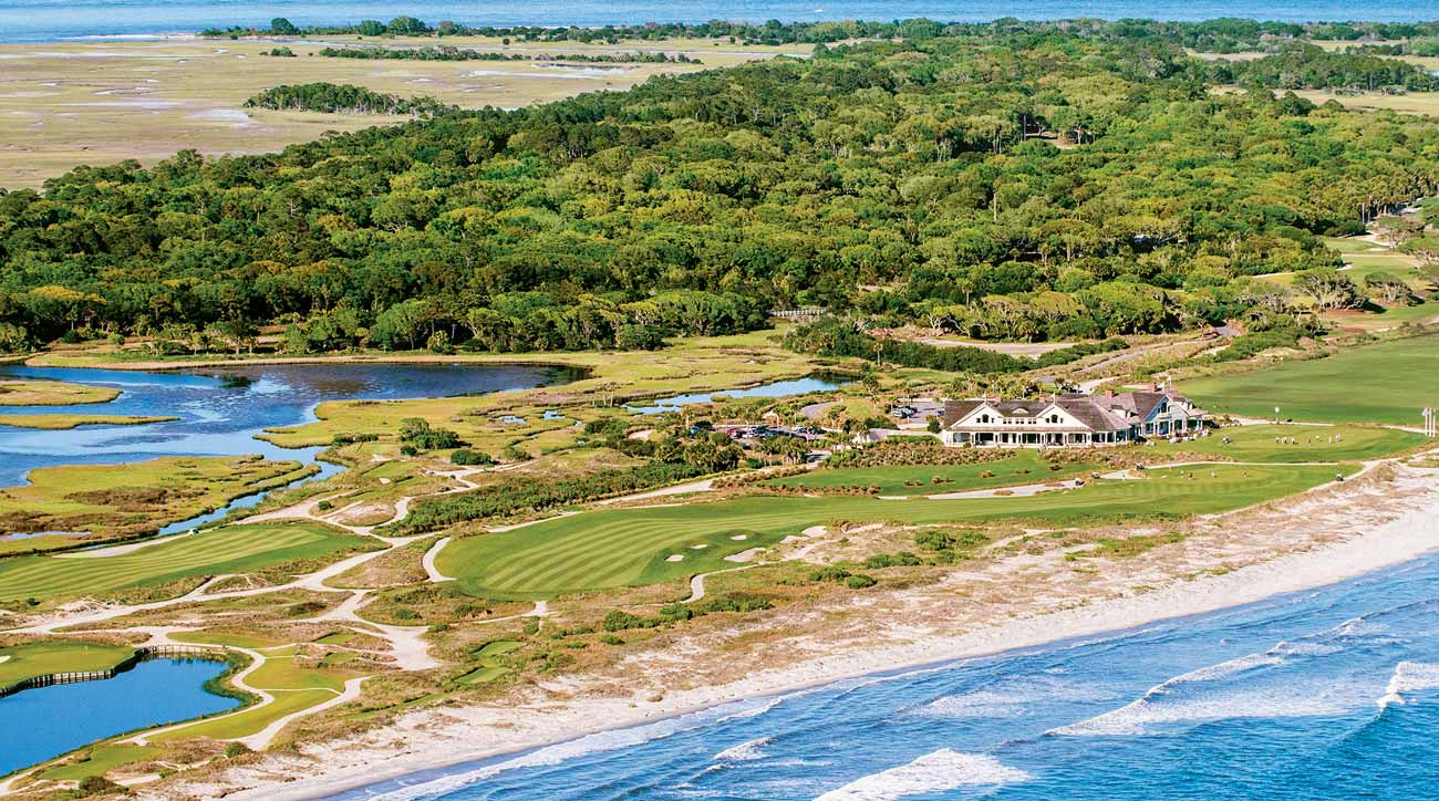 An aerial view of Kiawah Island's Ocean Course.