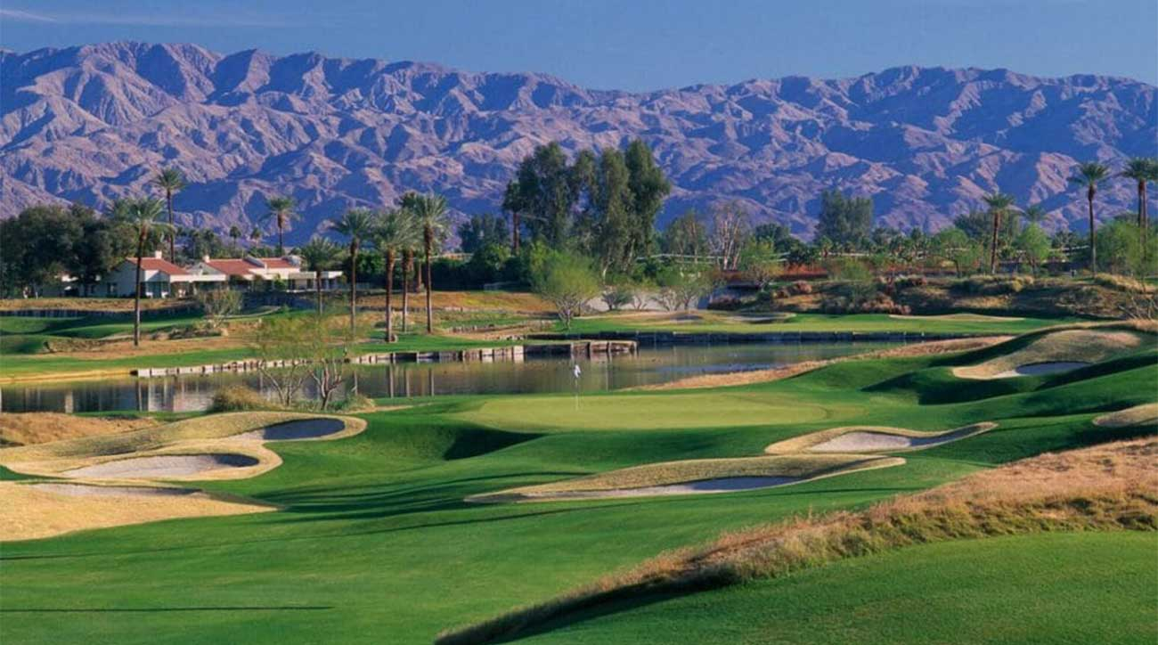 A scenic view of the Dunes Course at La Quinta in California.