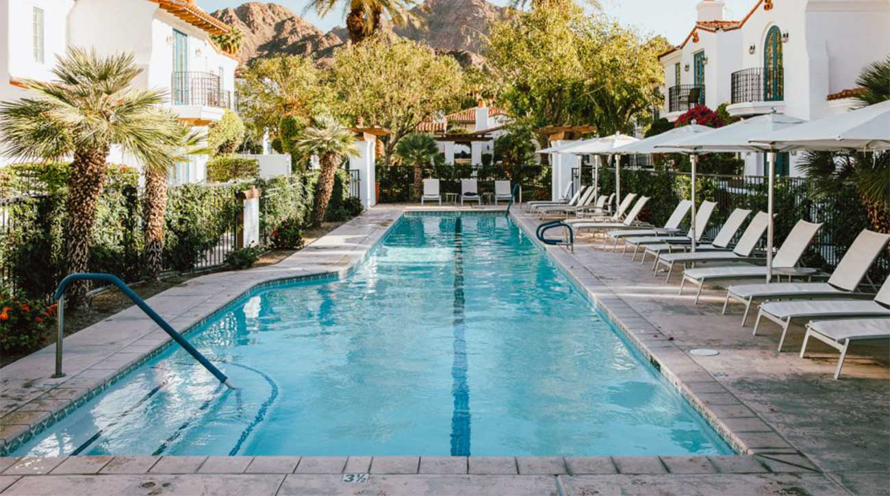One of the pools at La Quinta is a great place to cool off under the Cali sun.