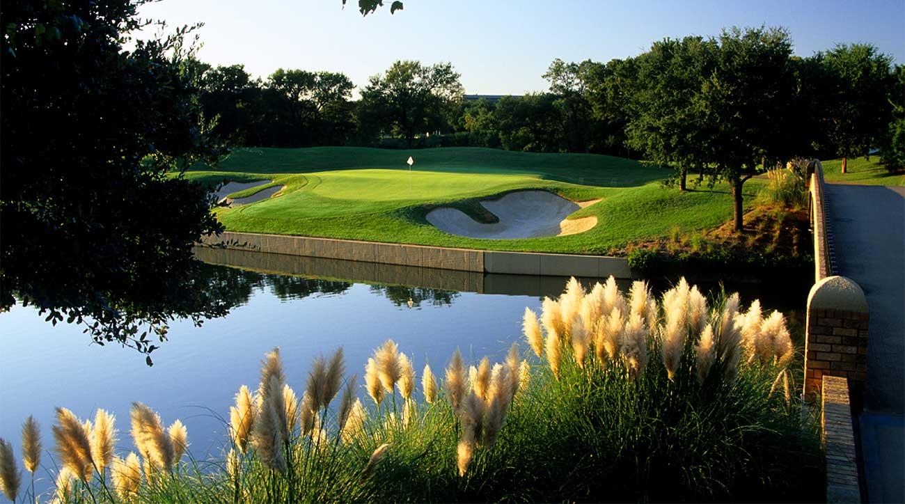 The 5th hole at TPC Las Colinas at the Four Seasons Resort in Dallas.