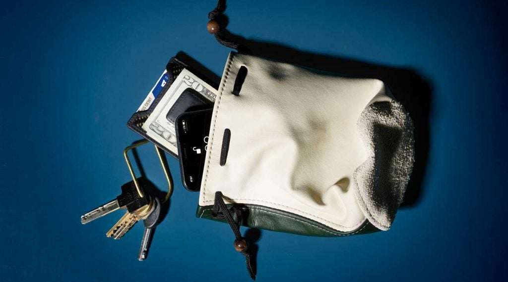 Mackenzie's valuables pouch is a great option for the golf course.