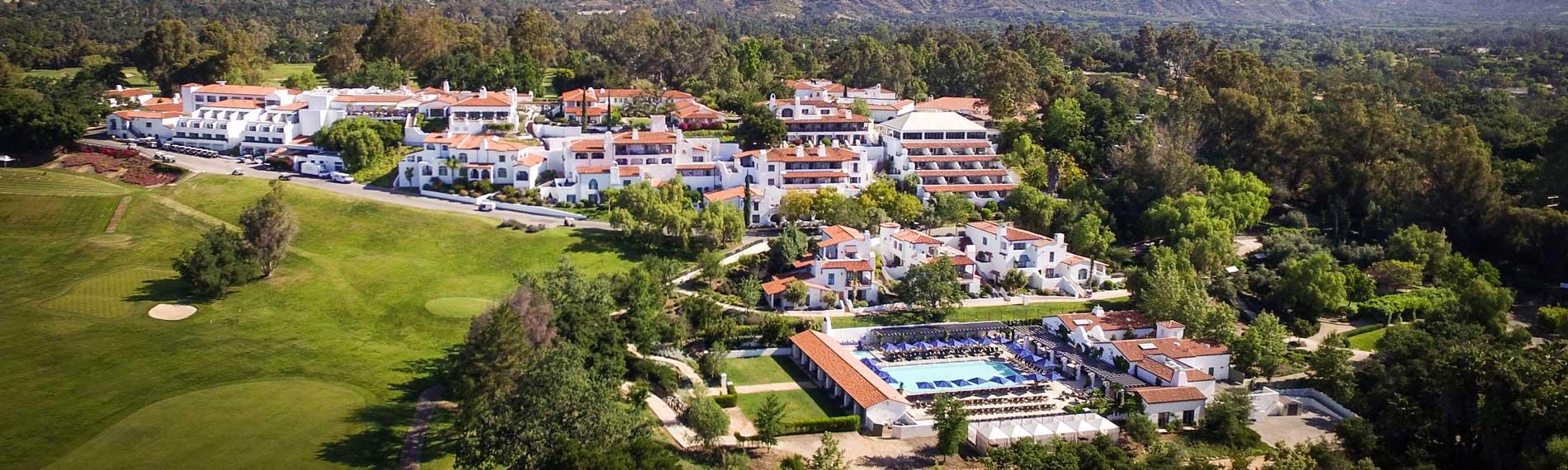 An aerial view of the Ojai Valley Inn & Spa.