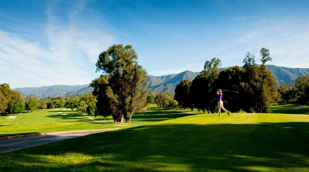 The on-site Ojai Country Club course at Ojai Valley Inn.