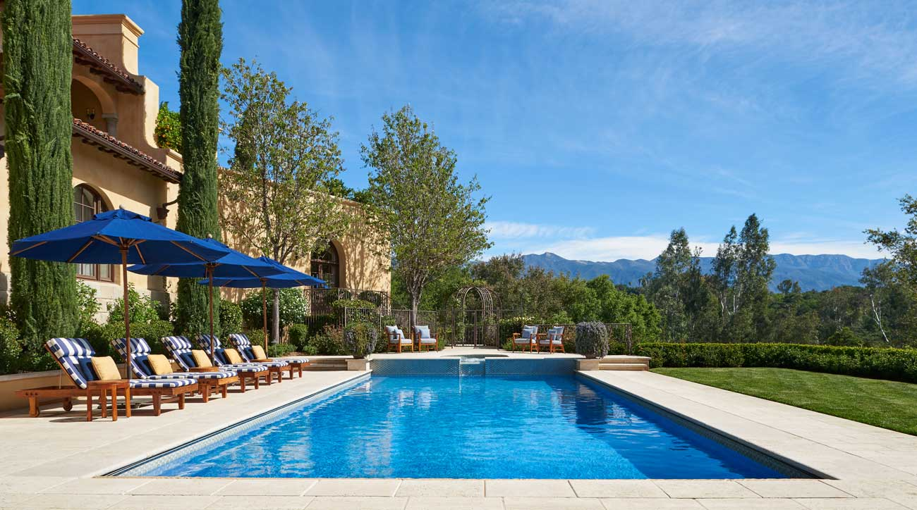 One of several pools at the Ojai Valley Inn & Spa.