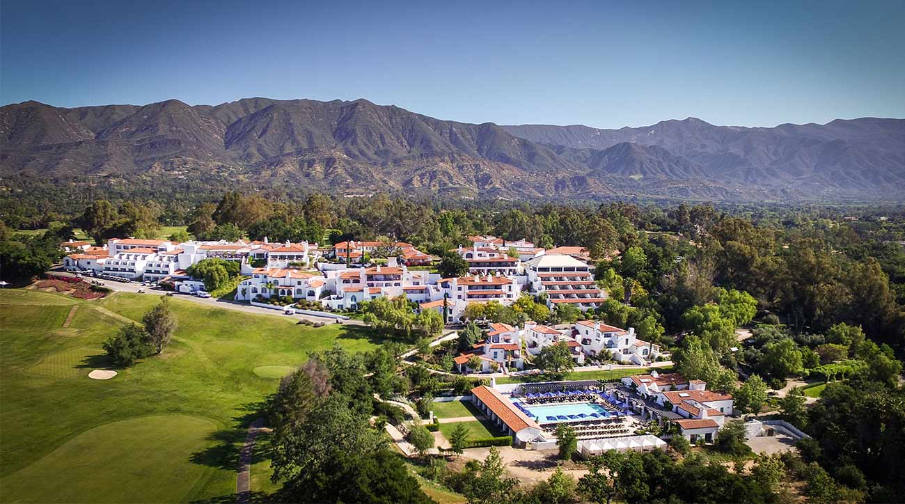 A view of some of the property, and golf, at Ojai Valley Inn & Spa in Ojai, Calif.