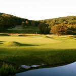 The second hole at Omni Bedord Springs Resort's Old Course.