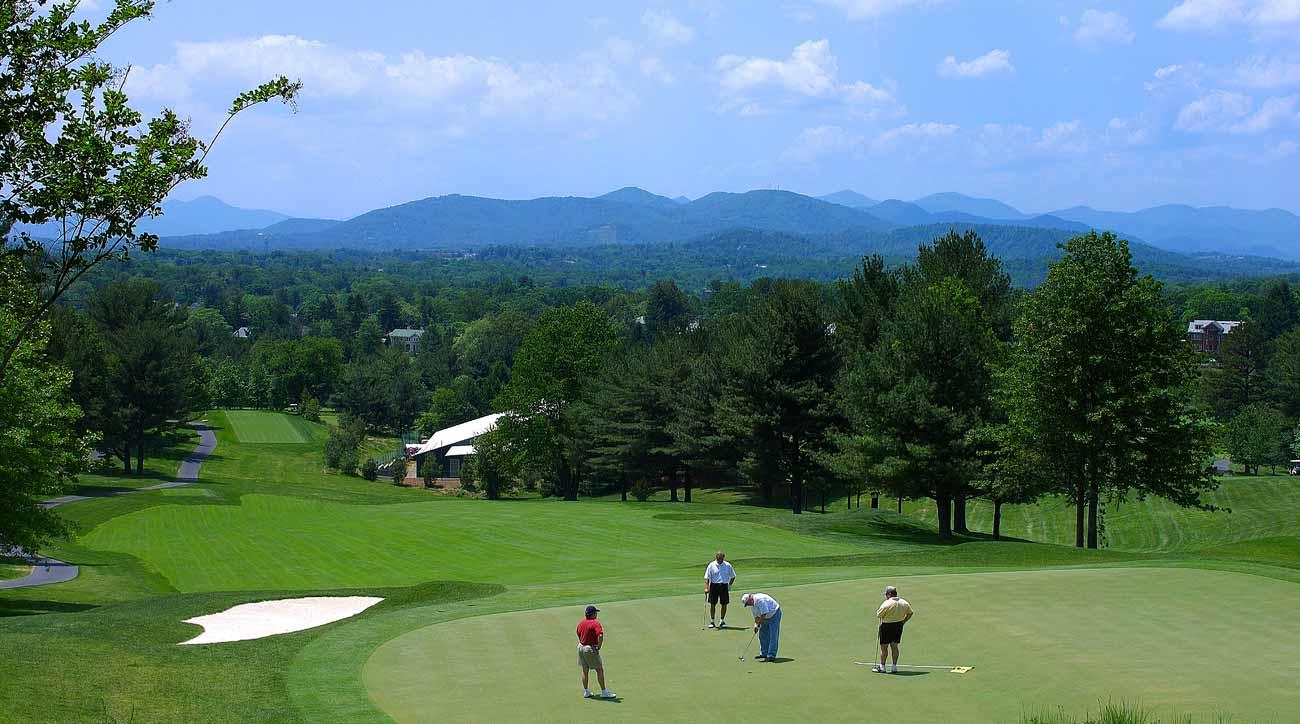 Omni Grove Park Inn features a Donald Ross-designed golf course.