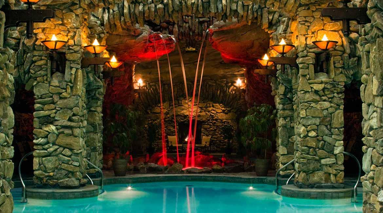 One part of Omni Grove Park Inn's 43,000-square-foot subterranean spa.