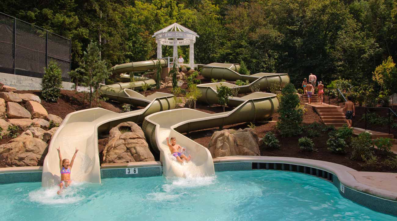Omni Homestead Resort has water slides perfect for the whole family to enjoy.