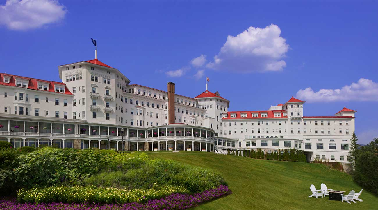 A view of the massive Omni Mount Washington Resort in Bretton Woods, N.H.