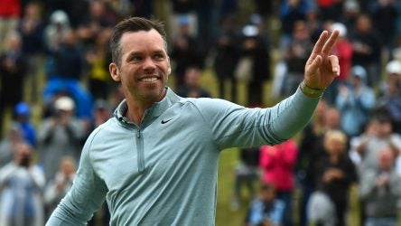 Paul Casey waves to the crowd on Sunday in Germany.