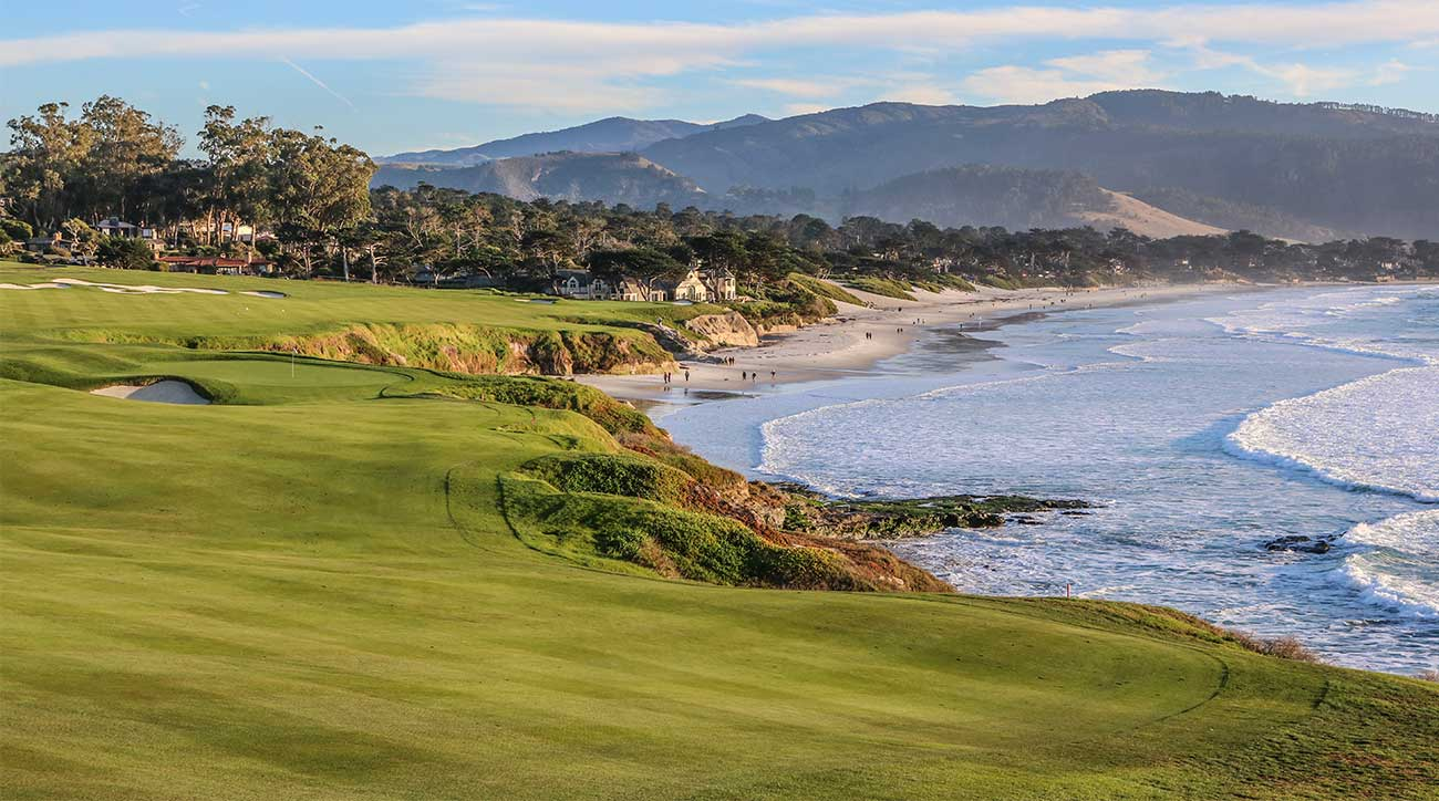 A shot of Pebble Beach Golf Links in California.