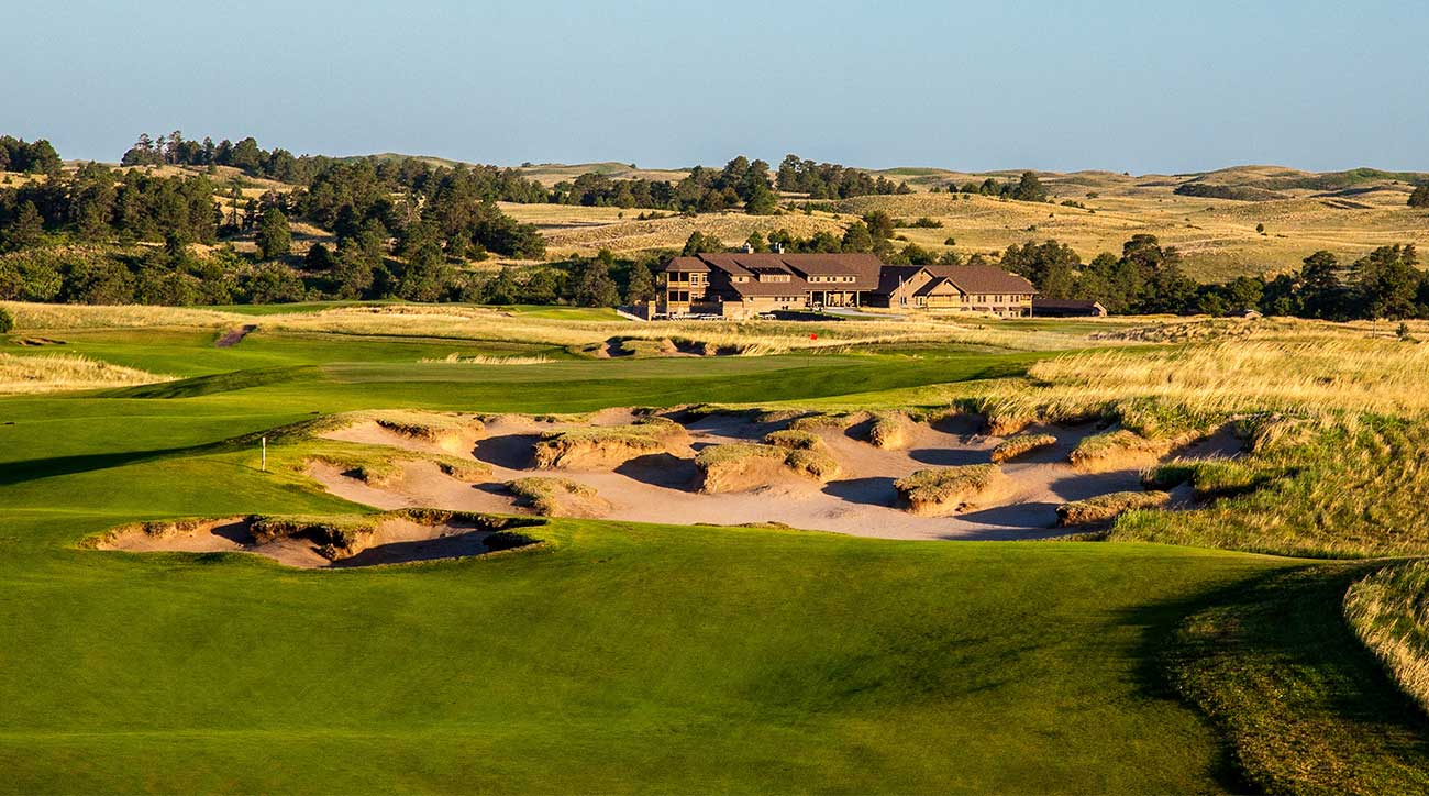 A shot of one of the golf courses at the Prairie Club in Valentine, Neb.