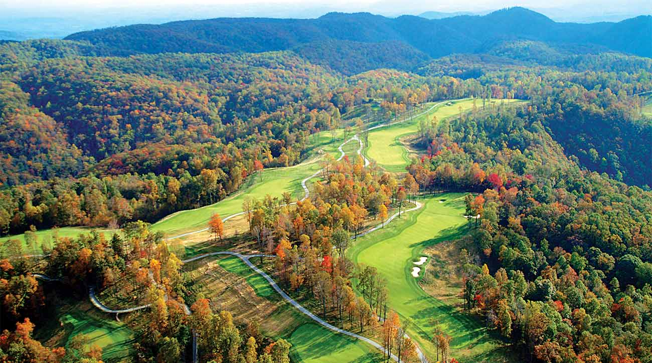 A view of the Highland course at Primland in Meadows of Dan, Va.