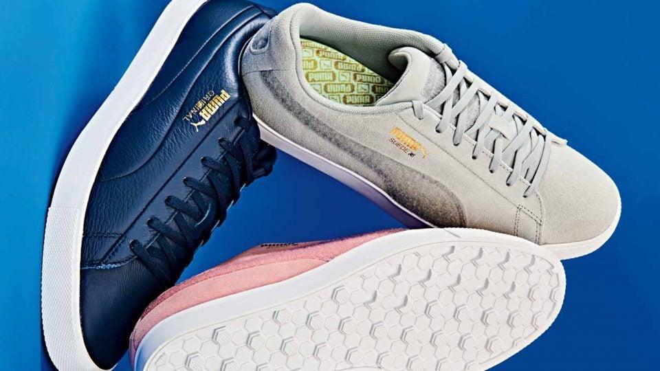 Puma retro Suede G Patch golf shoes, Original G golf shoes