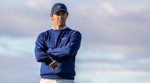 Rory McIlroy looks on during the Alfred Dunhill Links Championship in Scotland.