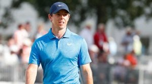 Rory McIlroy walks off the green at the Tour Championship.