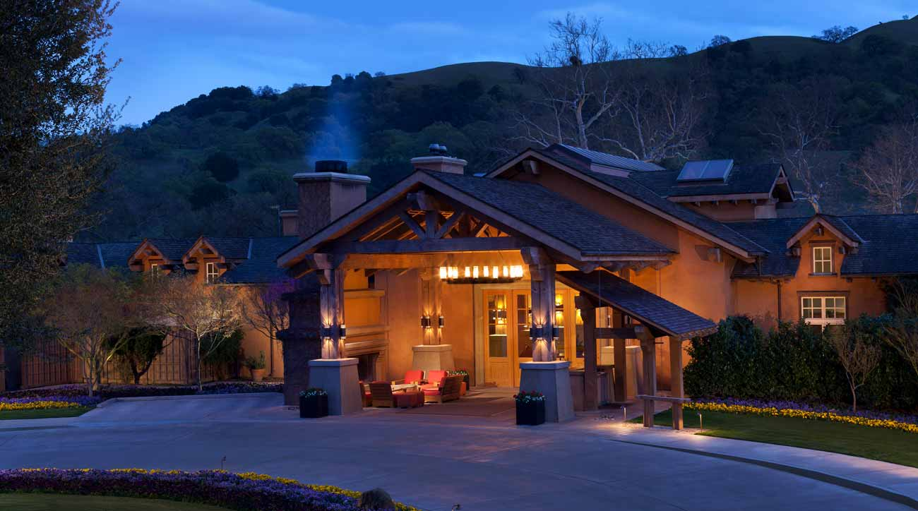 Night falls at Rosewood CordeValle Resort.