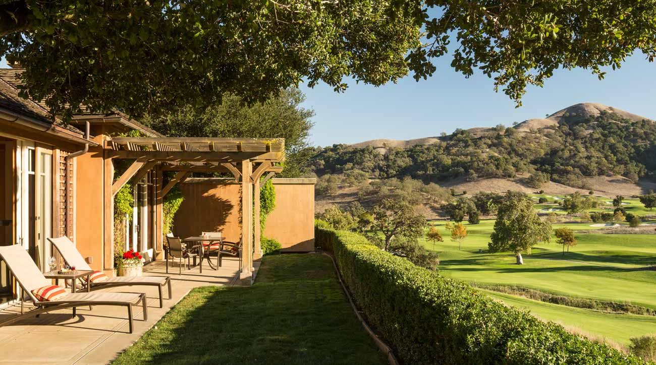 A bungalow at Rosewood CordeValle Resort.