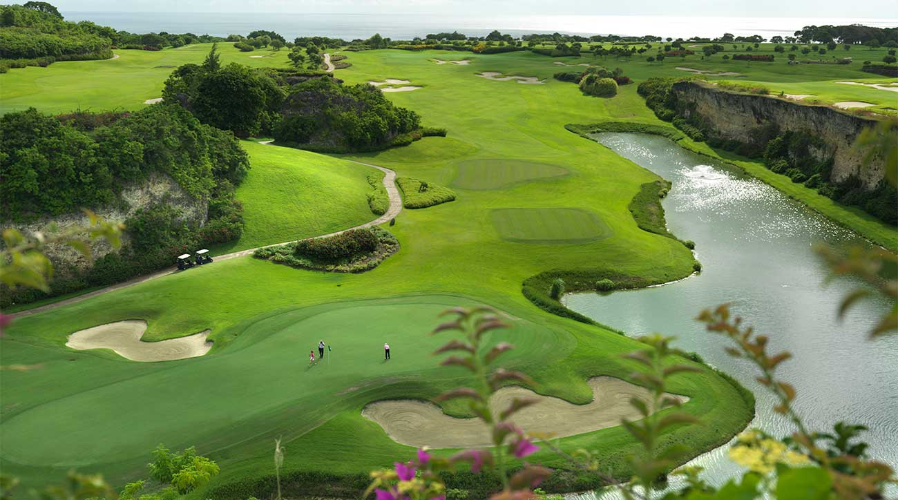 A view of the golf course at Sandy Lane Resort in Barbados.