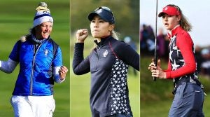 Suzann Pettersen, Danielle Kang and Nelly Korda at the 2019 Solheim Cup.