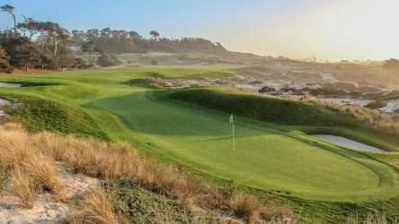 The 4th hole at Spyglass Hill at Pebble Beach Resort.
