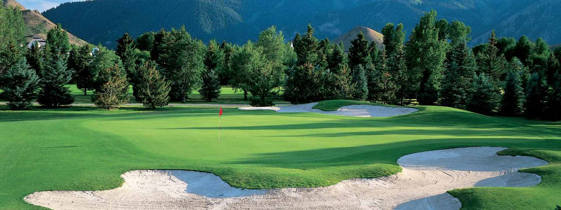 A view of one of the courses at Sun Valley Resort.