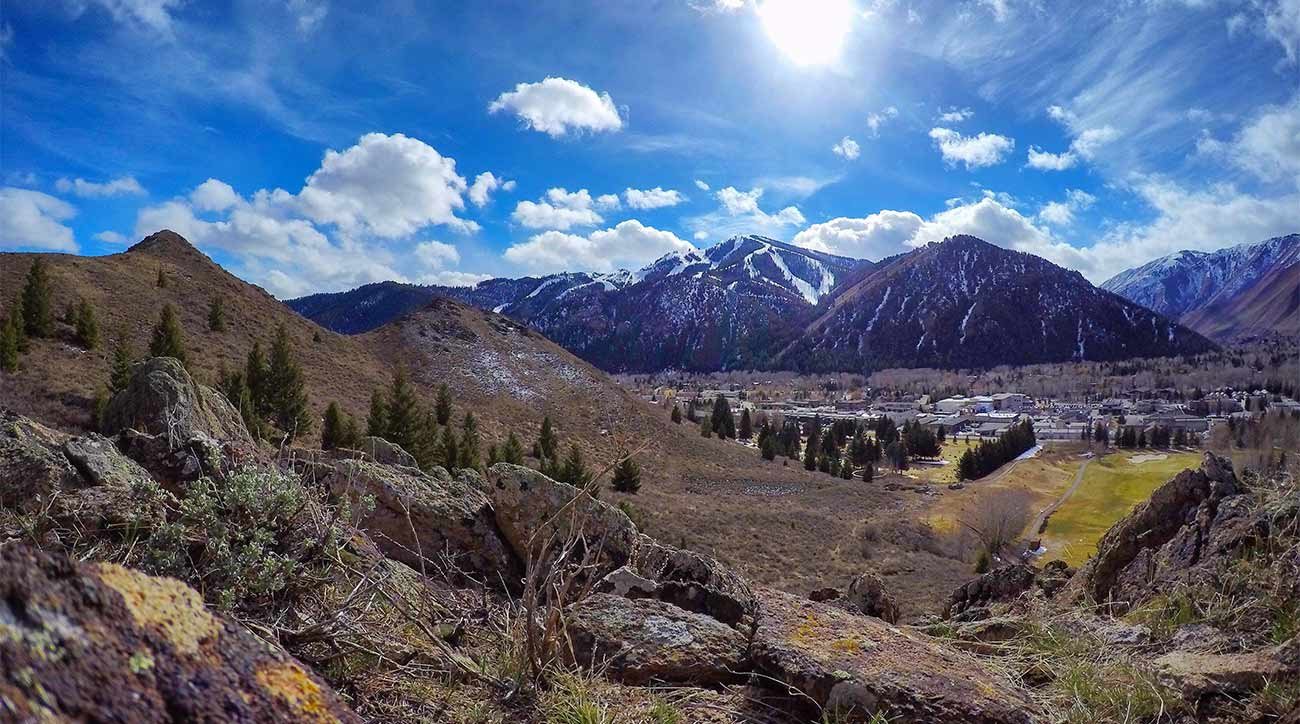 A scenic view of Sun Valley Resort in Idaho.