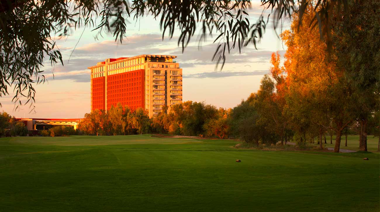 A view of the golf course and resort at Talking Stick.