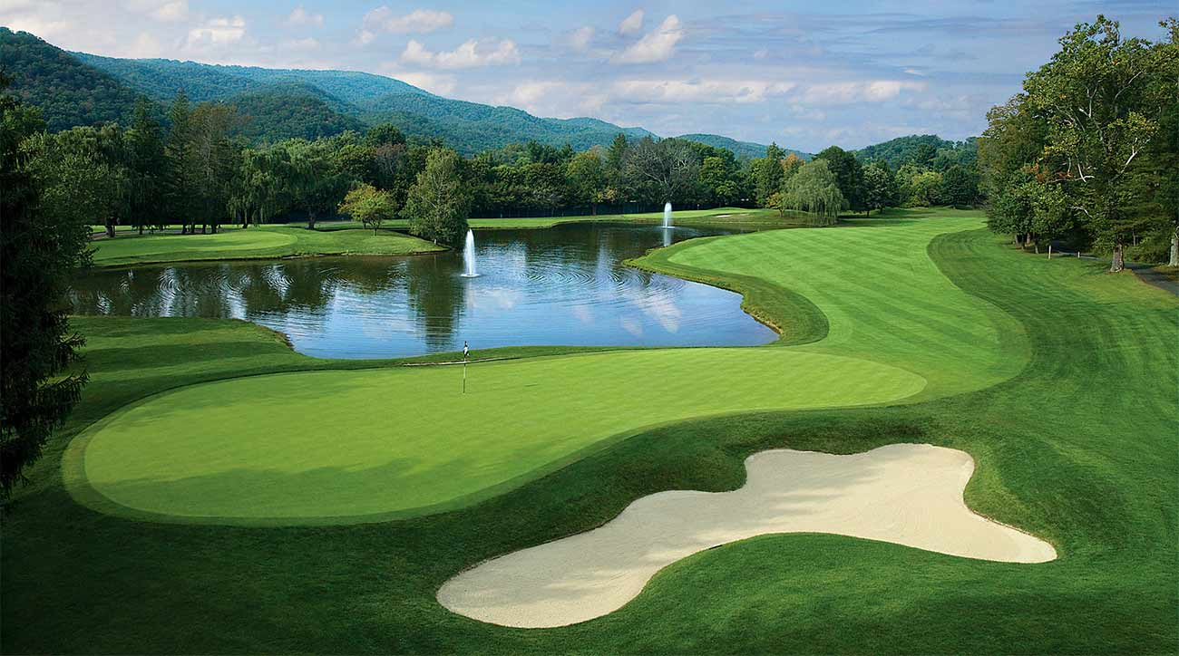 A green at The Greenbrier in West Virginia.