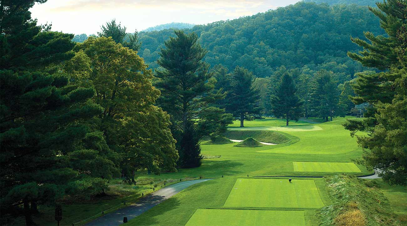 A look at one of The Greenbrier's several golf courses.