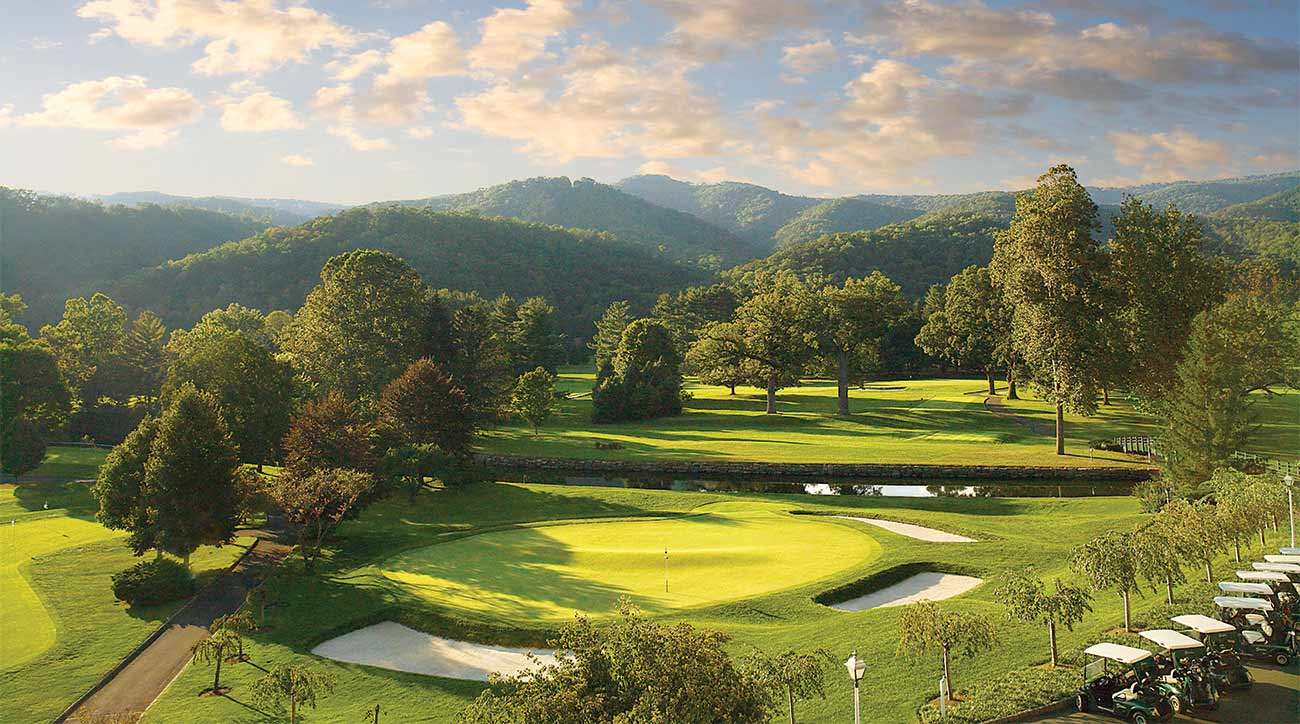 The Old White at The Greenbrier, which hosts a PGA Tour event.