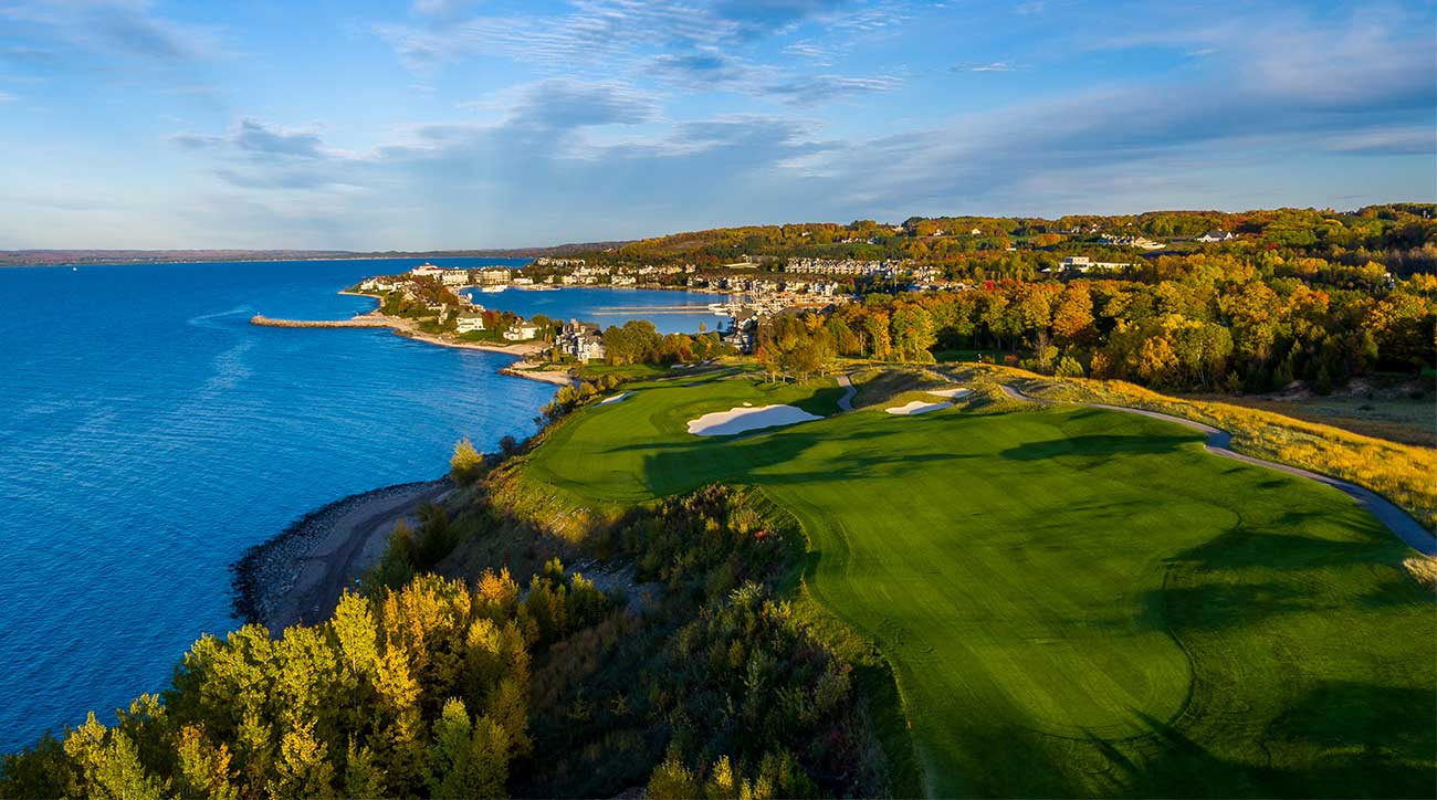 A view of one of the golf holes at the Inn at Bay Harbor.